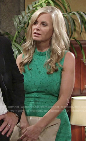 Ashley's green lace dress on The Young and the Restless