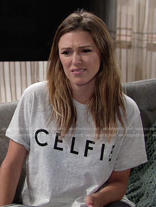 Chloe's CELFIE tee on The Young and the Restless