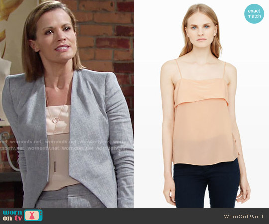 Club Monaco Sholu Silk Camisole worn by Melissa Claire Egan on The Young & the Restless