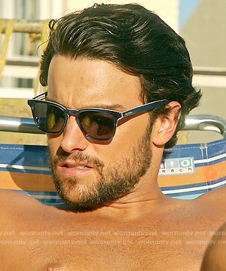 Connor's blue sunglasses on How to Get Away with Murder