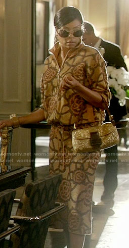Cookie's brown patterned jacket and skirt on Empire