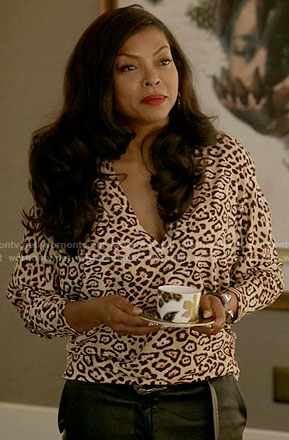 Cookie's leopard print v-neck top on Empire
