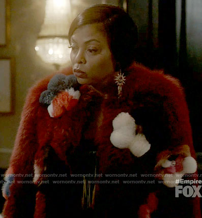 Cookie's red floral fur jacket on Empire