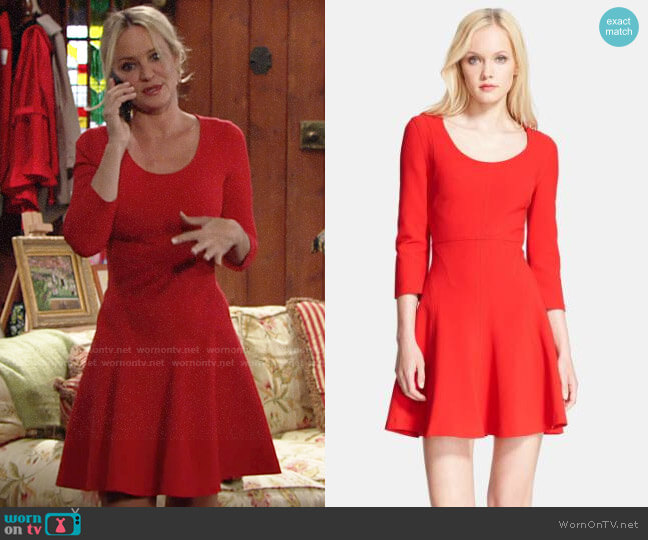 Diane von Furstenberg Paloma Dress worn by Sharon Collins (Sharon Case) on The Young & the Restless