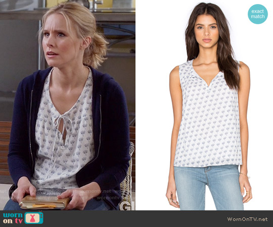 Diane von Furstenberg Rissa Tank worn by Kristen Bell on The Good Place
