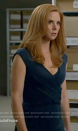 Donna's teal cross front dress on Suits