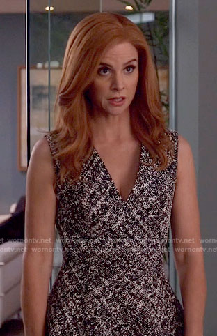 Donna's v-neck tweed dress on Suits
