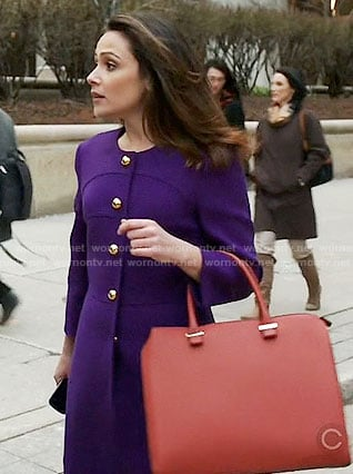 Emily's purple coat on Designated Survivor