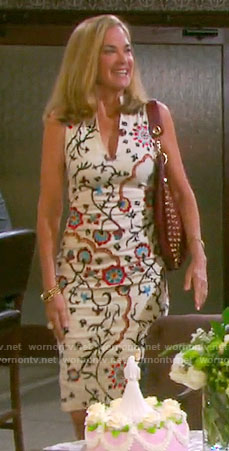 Eve's white floral printed dress on Days of our Lives