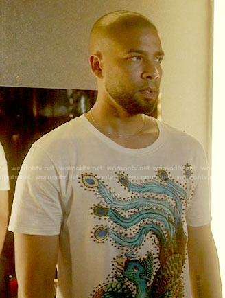 Jamal's peacock t-shirt on Empire