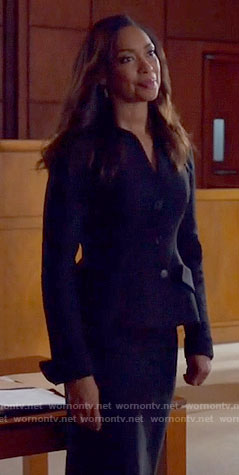 Jessica's black suit on Suits