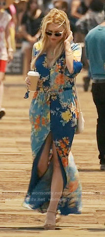 Kate's blue floral maxi dress on Mistresses