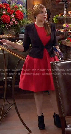 Kristin's red fit and flare dress on Last Man Standing