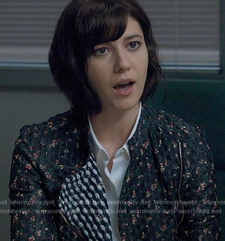 Laurel's floral jacket on BrainDead