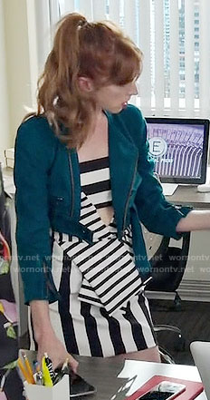 Lauren's striped cutout dress on Younger