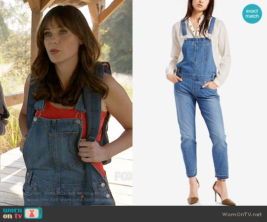 Levi's Denim Overalls worn by Zooey Deschanel on New Girl
