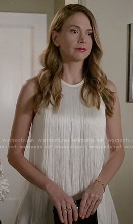 Liza's white fringed dress on Younger