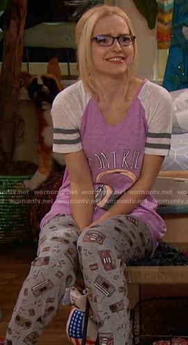 Maddie's Don't Kill My Vibe pajamas on Liv and Maddie