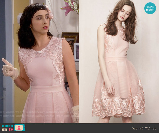 Maje 'Reason' Dress in Nude worn by  Molly Ephraim on Last Man Standing