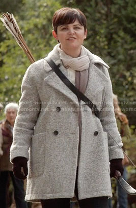 Mary's grey coat on Once Upon a Time