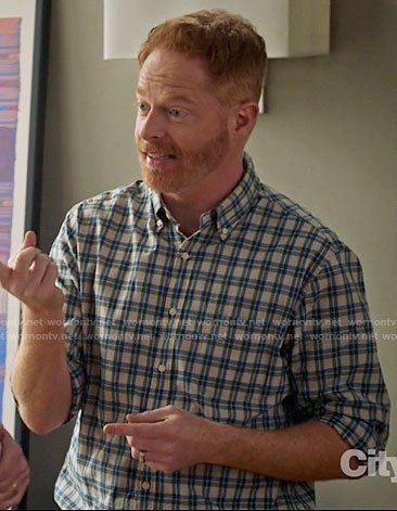 Mitchell's grey shirt with blue and green checks on Modern Family