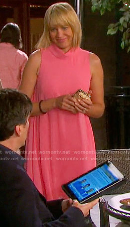 Nicole's pink roll neck dress on Days of our Lives
