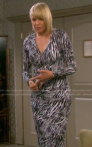 Nicole's zebra print dress on Days of our Lives