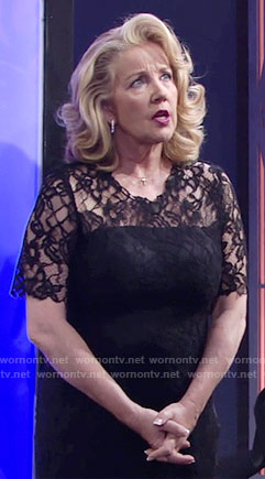 Nikki's black lace dress on The Young and the Restless