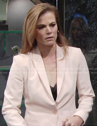Phyllis's blush pink blazer on The Young and the Restless