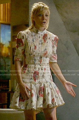 Rhonda's floral pintuck dress on Empire