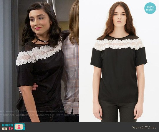 Sandro Eve Top worn by  Molly Ephraim on Last Man Standing