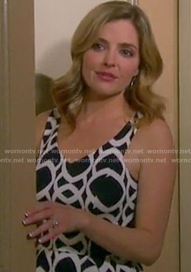 Theresa's geometric print dress on Days of our Lives