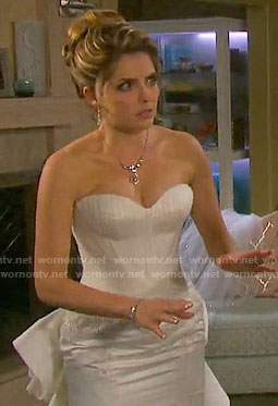 Theresa's wedding dress on Days of our Lives