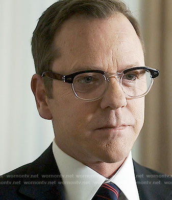 Tom's black and clear glasses on Designated Survivor