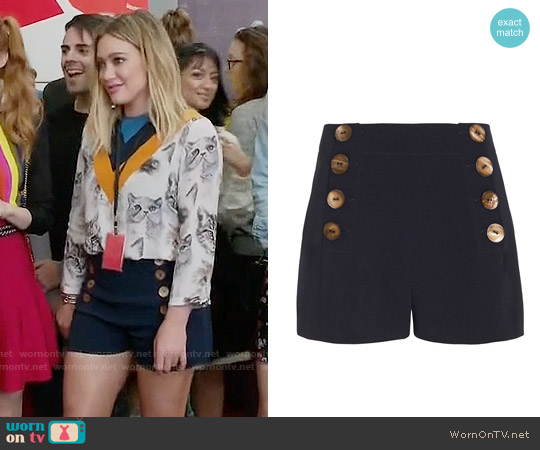 10 Crosby by Derek Lam Sailor Shorts worn by Kelsey Peters on Younger
