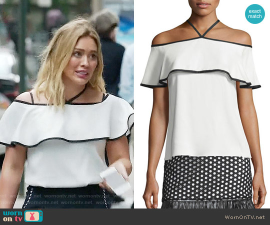 Alexis Isa Top worn by Kelsey Peters (Hilary Duff) on Younger