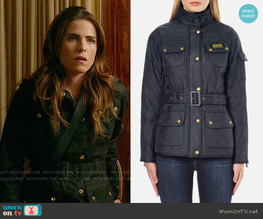 Barbour International Polarquilt Jacket worn by Karla Souza on HTGAWM