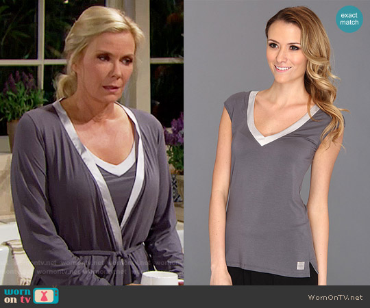 Calvin Klein Essentials Cap Sleeve PJ Top worn by Brooke Logan on The Bold & the Beautiful