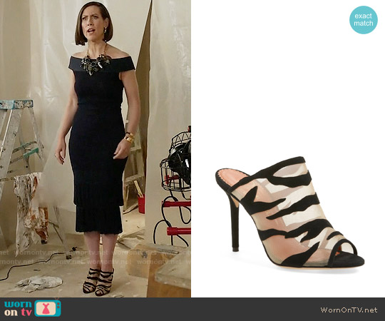 Charlotte Olympia 'Osa' Peep Toe Mule Sandal worn by Diana Trout on Younger