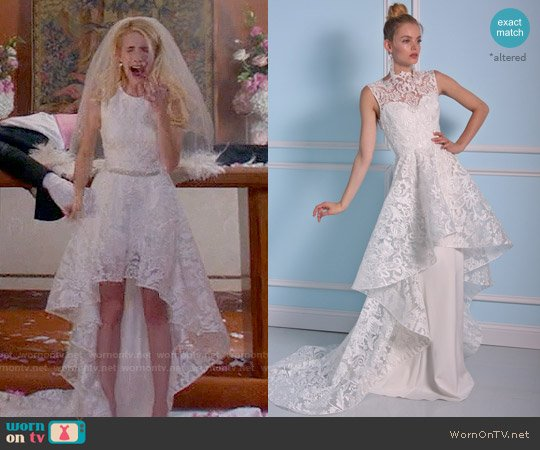 Christian Siriano Bridal 2016 Collection Gown worn by Emma Roberts on Scream Queens