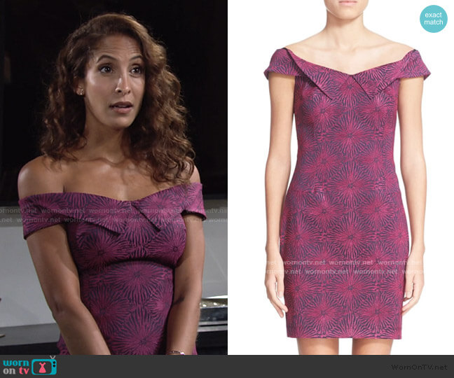 Opening Ceremony Floral Print Sheath Dress worn by Lily Winters (Christel Khalil) on The Young & the Restless