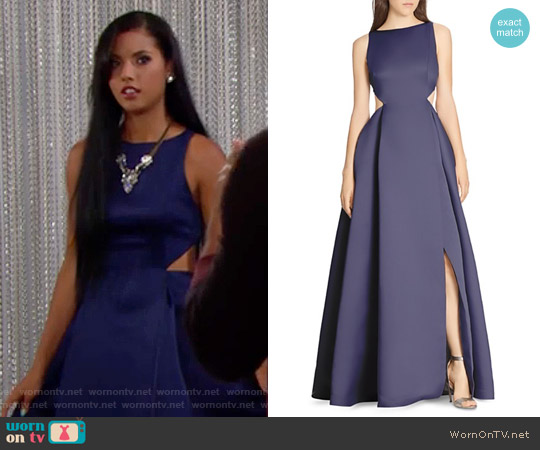 Halston Heritage Cutout Gown worn by Sasha Avant (Felisha Cooper) on The Bold & the Beautiful
