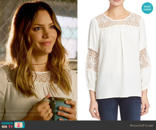 Joie Coastal Embroidered Lace Top worn by Paige Dineen (Katharine McPhee) on Scorpion