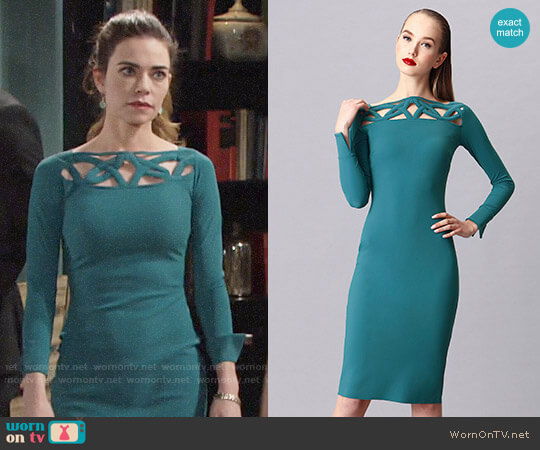 La Petite  Robe di Chiara Boni Terrie Dress worn by Victoria Newman (Amelia Heinle) on The Young & the Restless