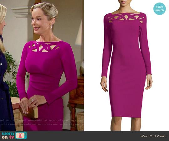 La Petite Robe di Chiara Boni Terrie Dress in Vinaccia worn by Jennifer Gareis on The Bold & the Beautiful