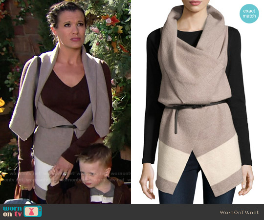 Joie Ligere Wool Vest worn by Melissa Claire Egan on The Young & the Restless