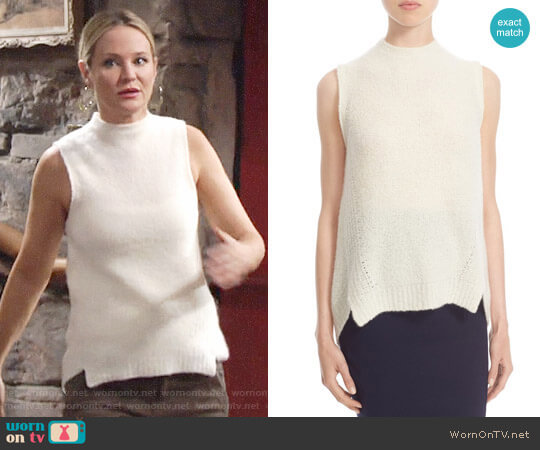 Milly Sleeveless 'Cloud' Cashmere Blend Sleeveless Sweater worn by Sharon Case on The Young & the Restless