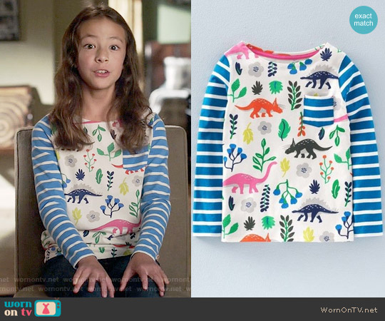 Mini Boden 'Hotchpotch' Cotton Jersey Tee worn by Lily Tucker-Pritchett (Aubrey Anderson-Emmons) on Modern Family