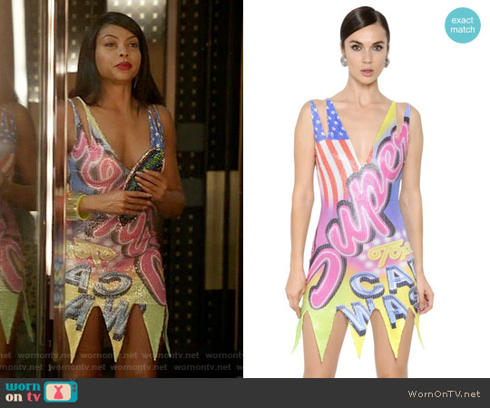 Moschino Super Printed Sequin Tulle Dress worn by Taraji P. Henson on Empire