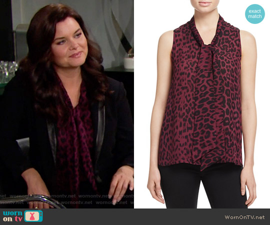 Parker Mia Top worn by Heather Tom on The Bold & the Beautiful